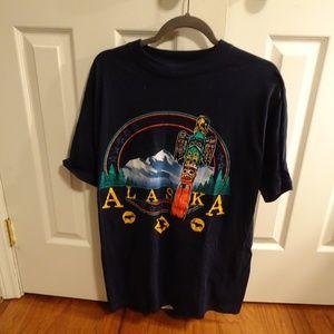 Alaska Totem Pole Souvenir T-Shirt  Men's Size L